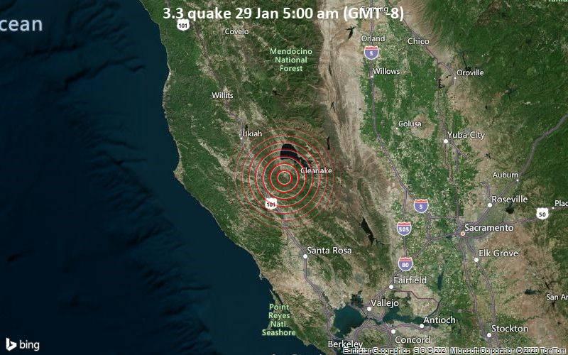3.3 quake 29 Jan 5:00 am (GMT -8)