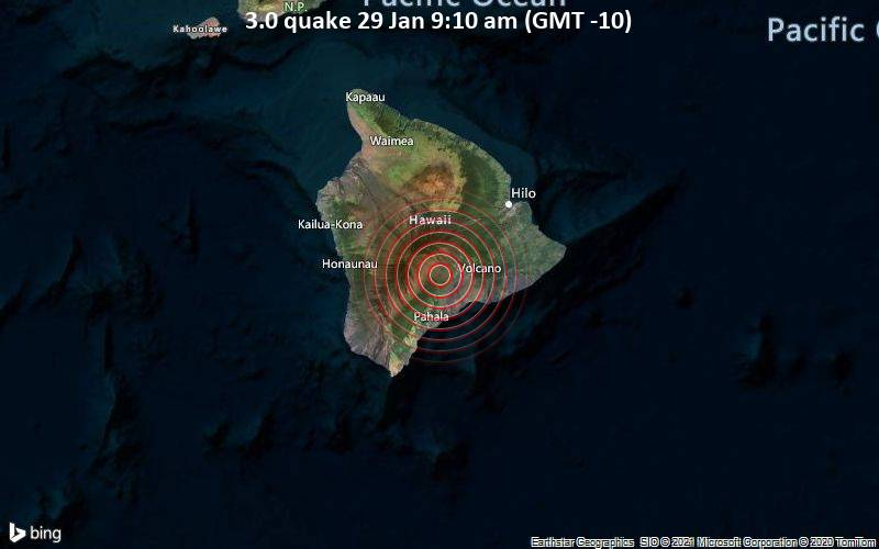 3.0 quake 29 Jan 9:10 am (GMT -10)