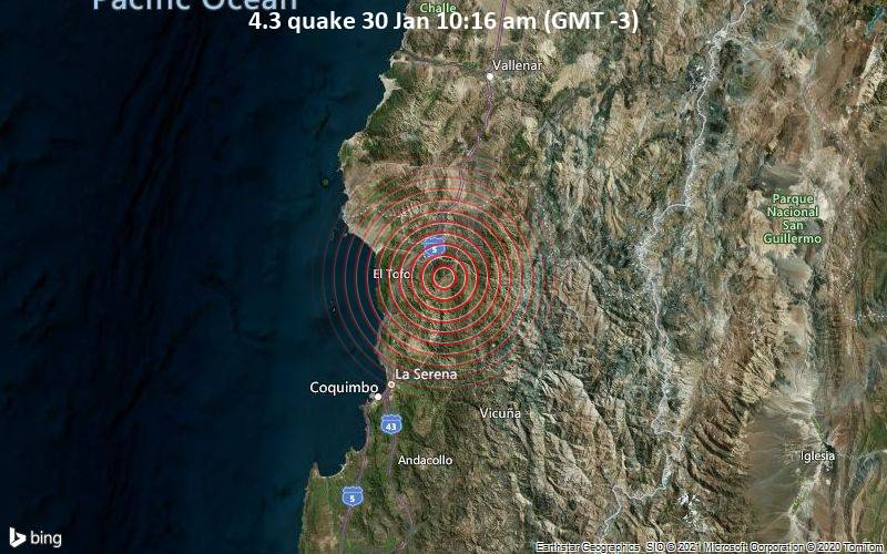 4.3 quake 30 Jan 10:16 am (GMT -3)