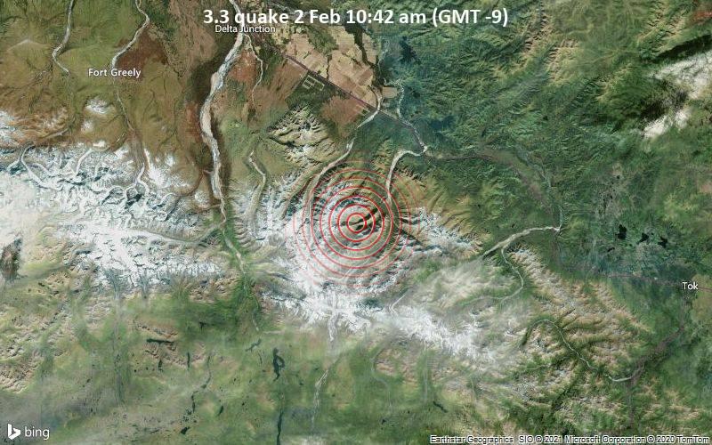 3,3 gempa bumi 2 Februari 10:42 (GMT -9)