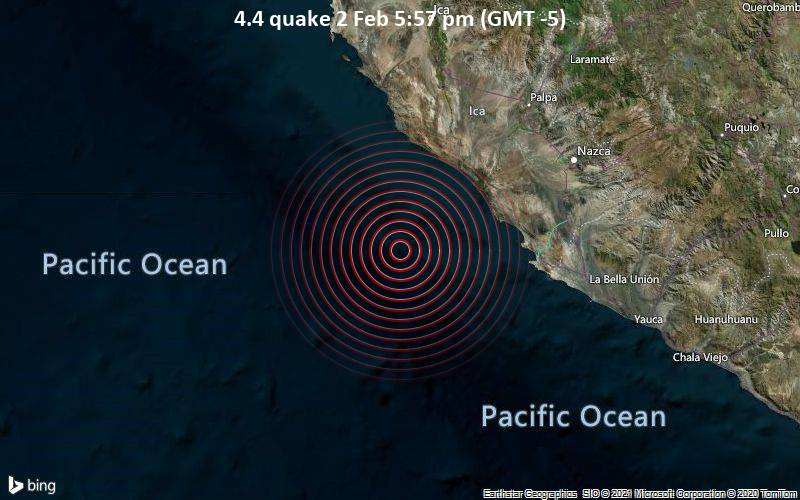 4.4 quake 2 Feb 5:57 pm (GMT -5)
