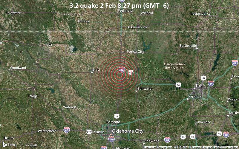 3.2 quake 2 Feb 8:27 pm (GMT -6)