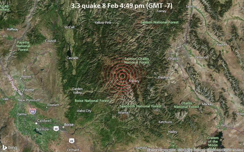 3.3 quake 8 Feb 4:49 pm (GMT -7)