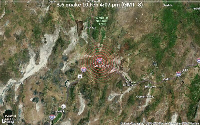 3.6 quake 10 Feb 4:07 pm (GMT -8)