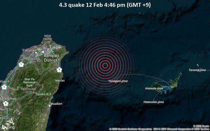 4.3 quake 12 Feb 4:46 pm (GMT +9)