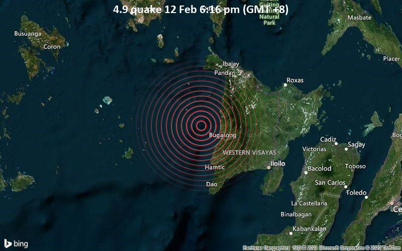 4.9 quake 12 Feb 6:16 pm (GMT +8)