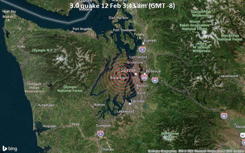 3.0 quake 12 Feb 3:43 am (GMT -8)