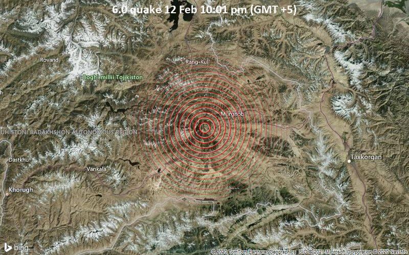 6.0 quake 12 Feb 10:01 pm (GMT +5)