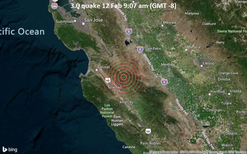 3.0 quake 12 Feb 9:07 am (GMT -8)