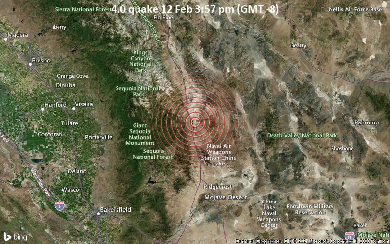 4.0 quake 12 Feb 3:57 pm (GMT -8)