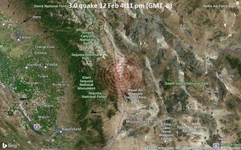 3.0 quake 12 Feb 4:11 pm (GMT -8)