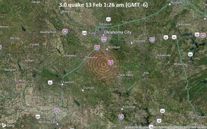 3.0 quake 13 Feb 1:26 am (GMT -6)