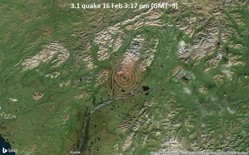 3.1 quake 16 Feb 3:17 pm (GMT -9)