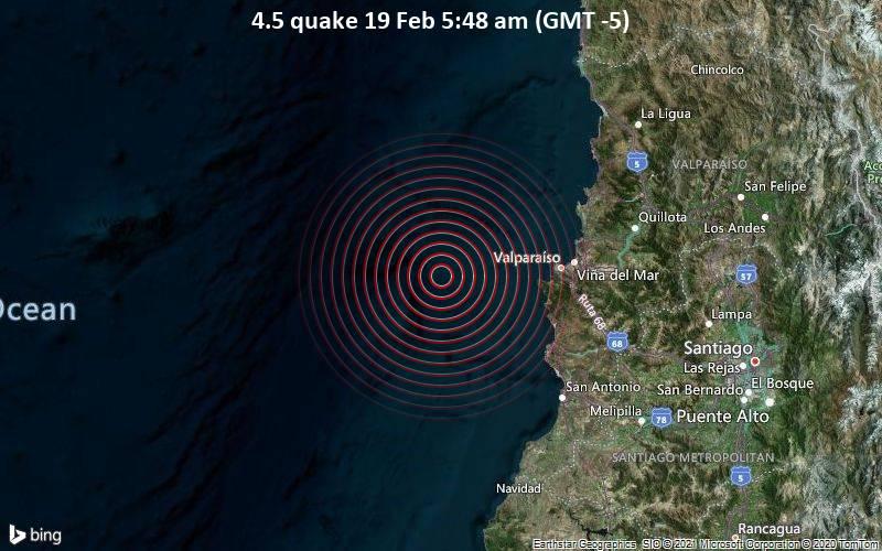 4.5 quake 19 Feb 5:48 am (GMT -5)