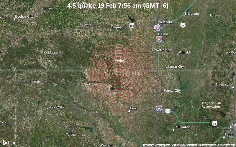 4.5 quake 19 Feb 7:56 am (GMT -6)