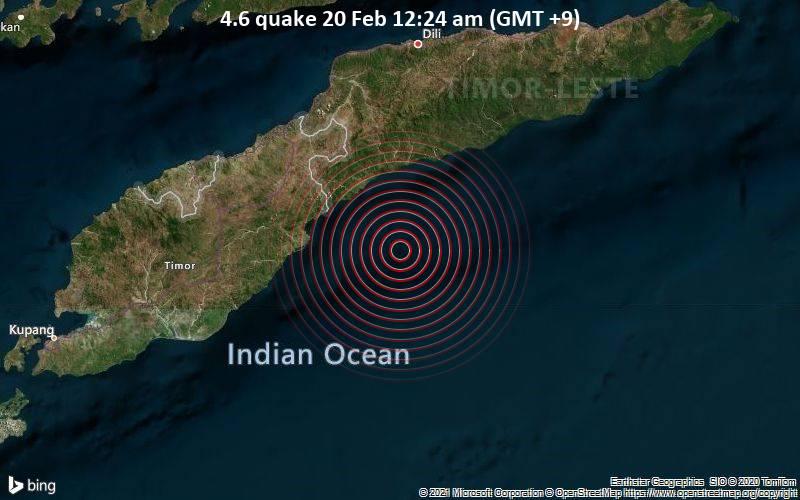 4.6 quake 20 Feb 12:24 am (GMT +9)