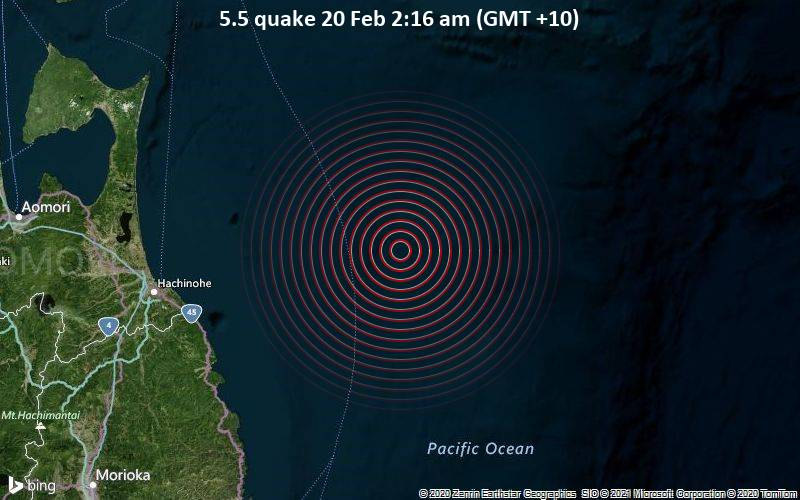 5.5 quake 20 Feb 2:16 am (GMT +10)