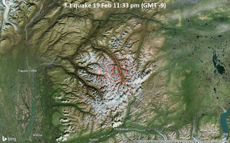 3.1 quake 19 Feb 11:33 pm (GMT -9)