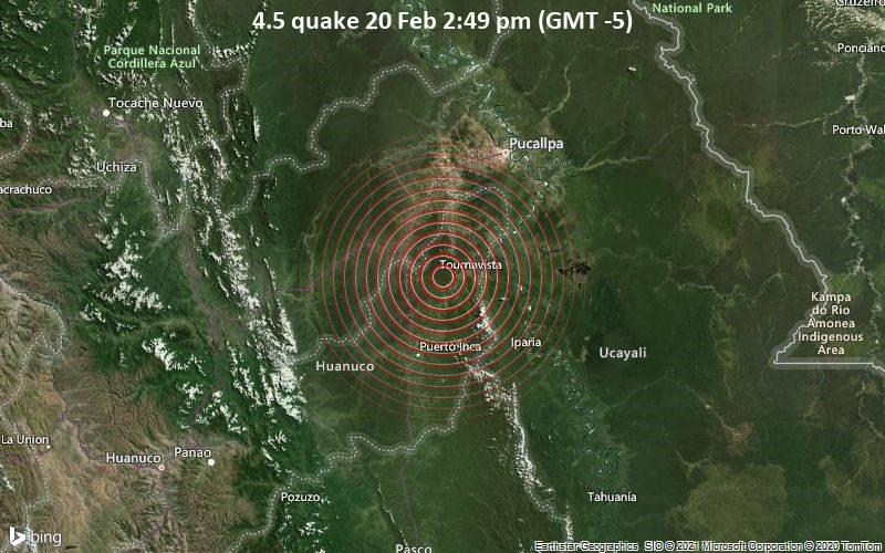 4.5 quake 20 Feb 2:49 pm (GMT -5)
