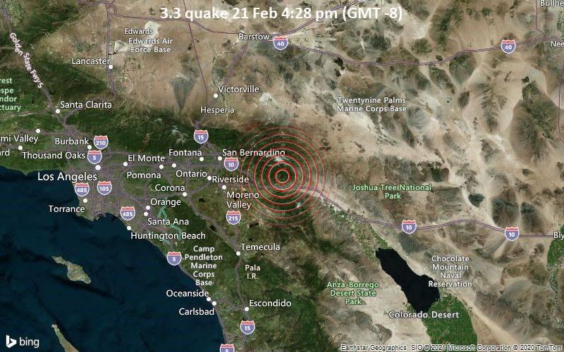 3.3 quake 21 Feb 4:28 pm (GMT -8)