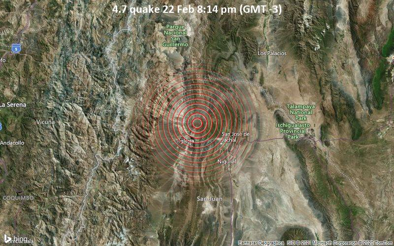4.7 quake 22 Feb 8:14 pm (GMT -3)