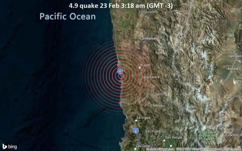 4.9 quake 23 Feb 3:18 am (GMT -3)