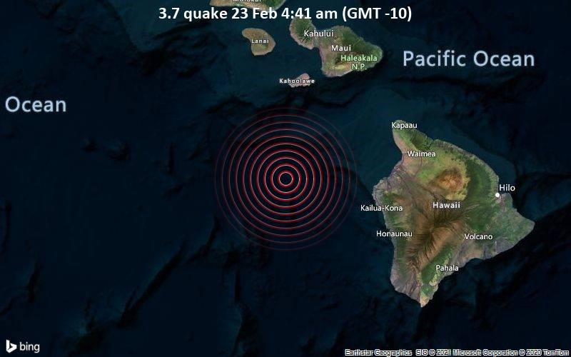 3.7 quake 23 Feb 4:41 am (GMT -10)