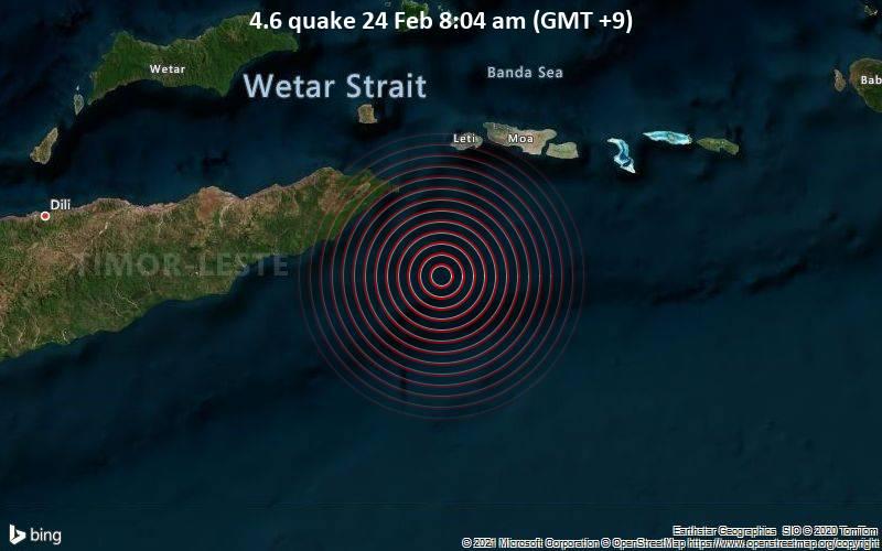 4.6 quake 24 Feb 8:04 am (GMT +9)