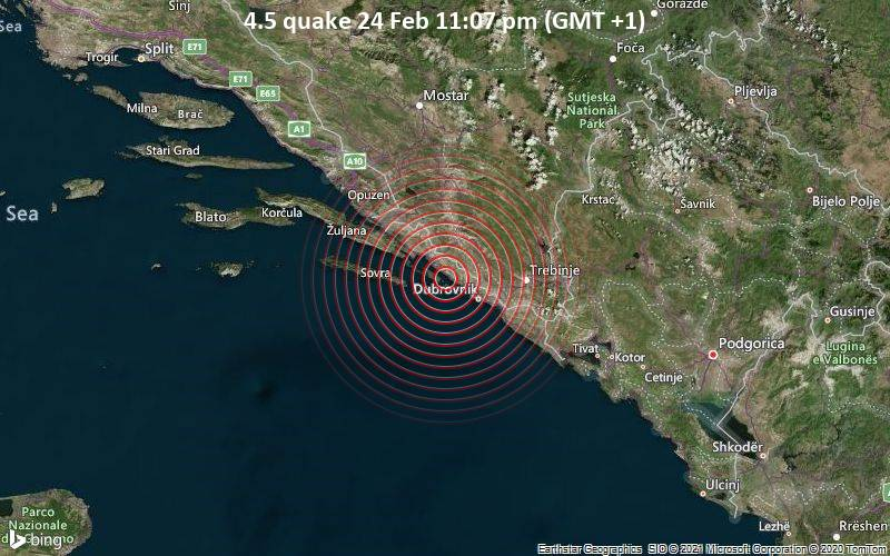 4.5 quake 24 Feb 11:07 pm (GMT +1)