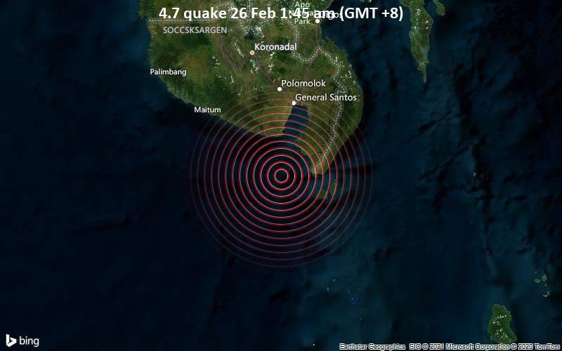4.7 quake 26 Feb 1:45 am (GMT +8)