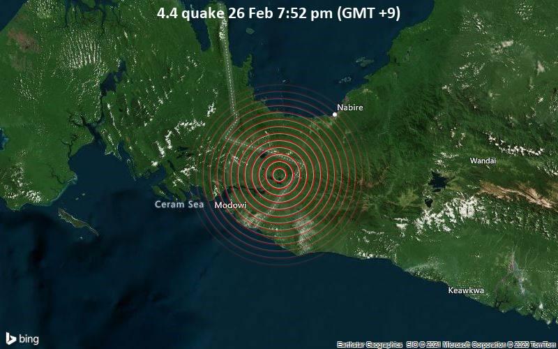 4.4 quake 26 Feb 7:52 pm (GMT +9)