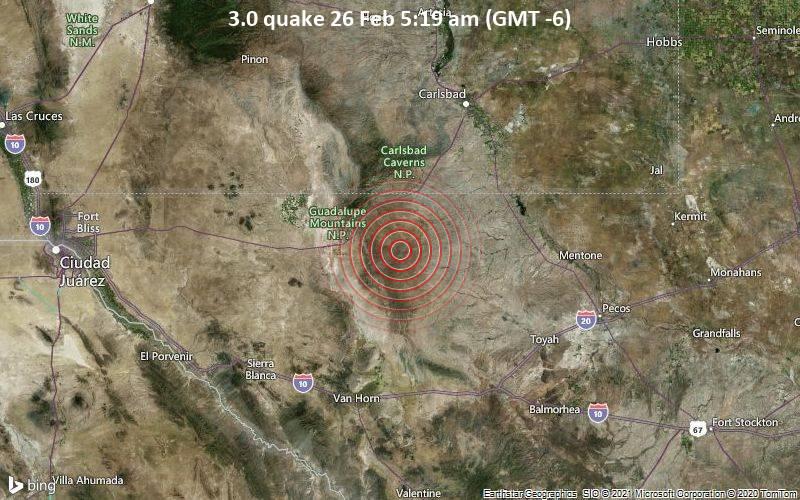 3.0 quake 26 Feb 5:19 am (GMT -6)