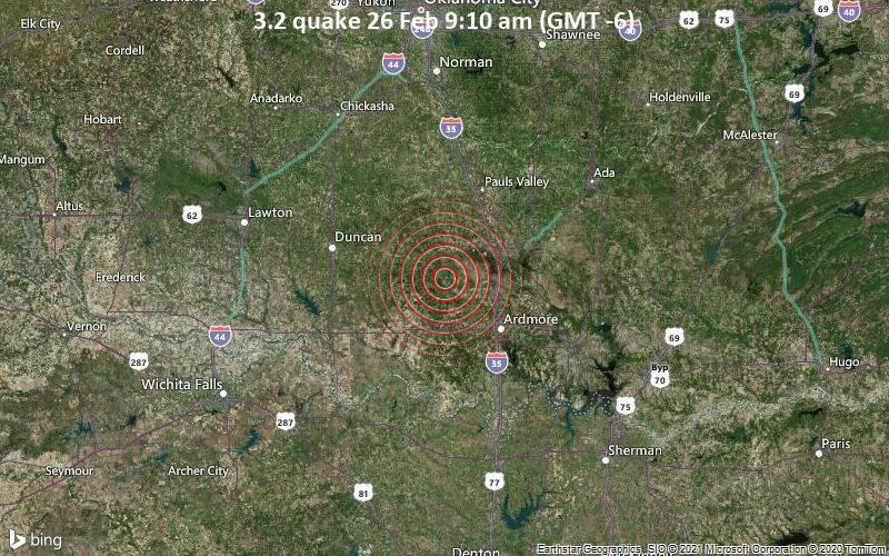 3.2 quake 26 Feb 9:10 am (GMT -6)