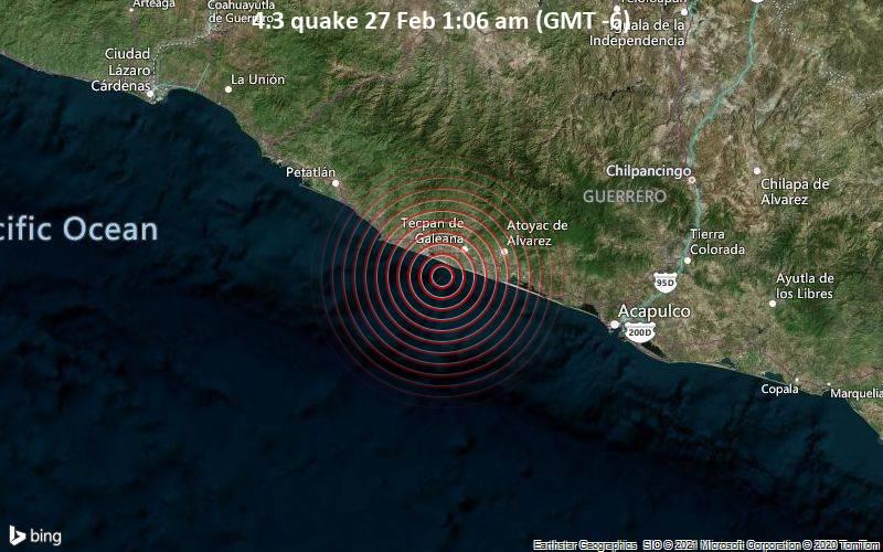 4.3 quake 27 Feb 1:06 am (GMT -6)