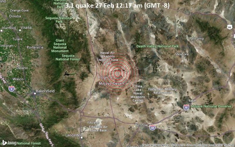 3.1 quake 27 Feb 12:17 am (GMT -8)