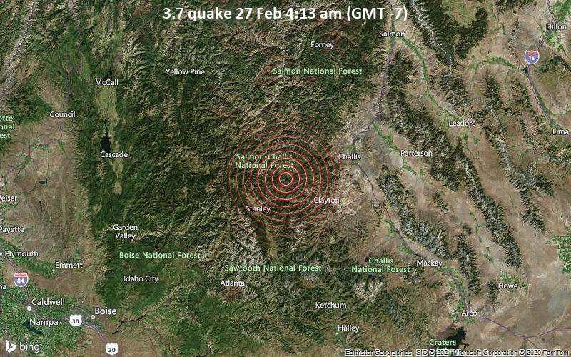 3.7 quake 27 Feb 4:13 am (GMT -7)