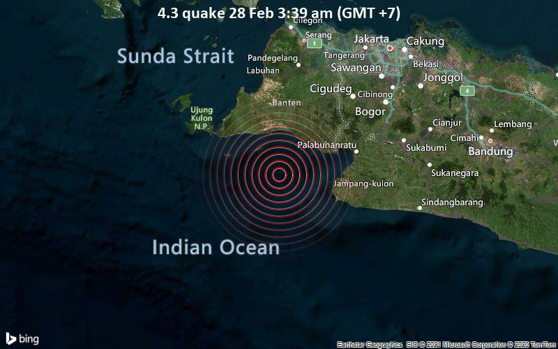 4.3 quake 28 Feb 3:39 am (GMT +7)