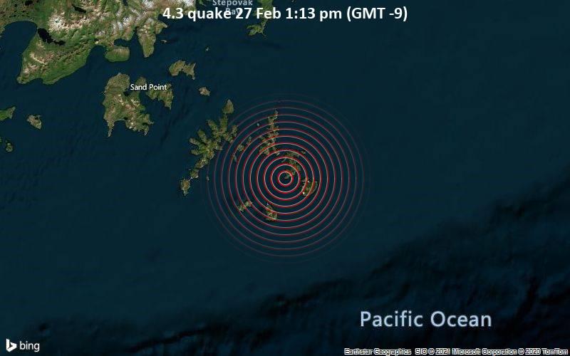 4.3 quake 27 Feb 1:13 pm (GMT -9)