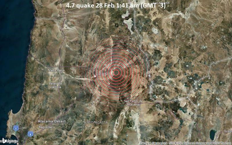 4.7 quake 28 Feb 1:41 am (GMT -3)