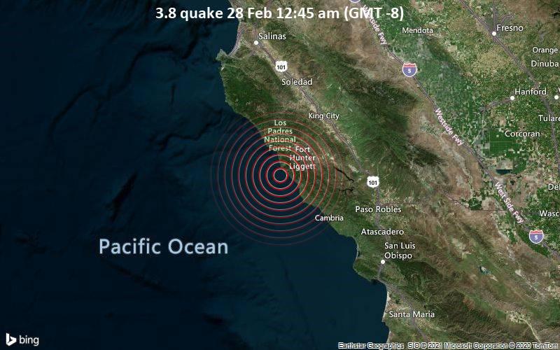 3.8 quake 28 Feb 12:45 am (GMT -8)