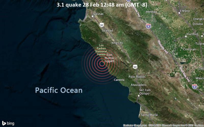 3.1 quake 28 Feb 12:48 am (GMT -8)