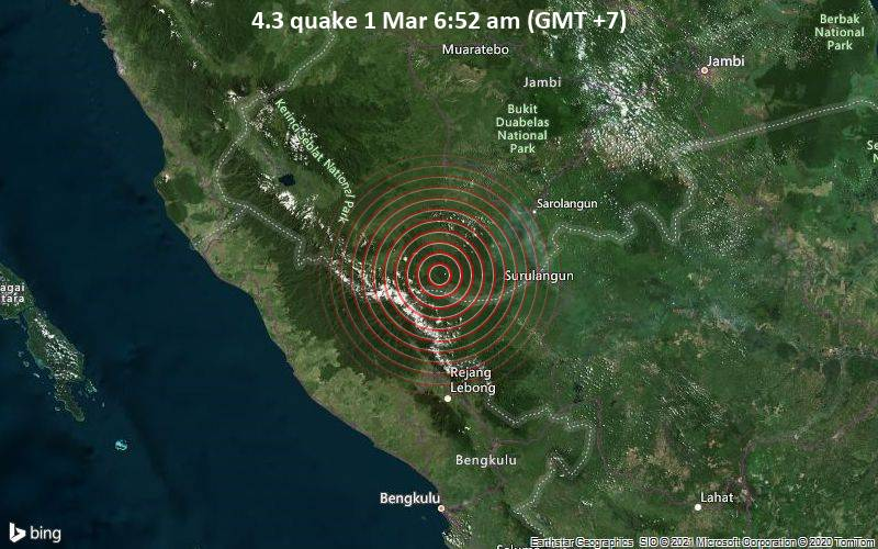 4.3 quake 1 Mar 6:52 am (GMT +7)