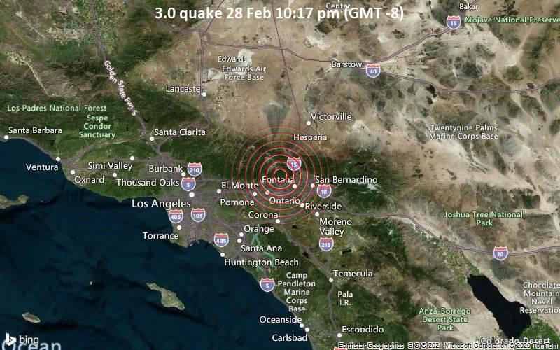3.0 quake 28 Feb 10:17 pm (GMT -8)