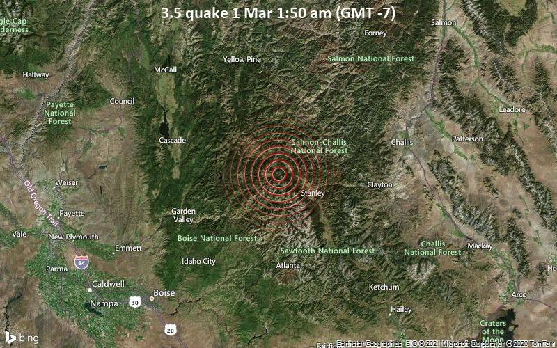 3.5 quake 1 Mar 1:50 am (GMT -7)