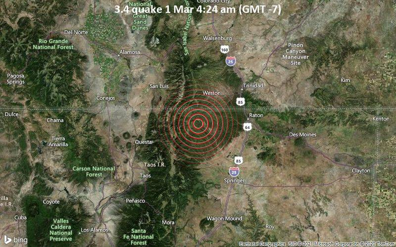3.4 quake 1 Mar 4:24 am (GMT -7)