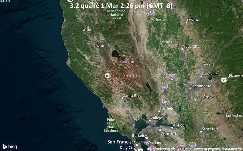 3.2 quake 1 Mar 2:26 pm (GMT -8)