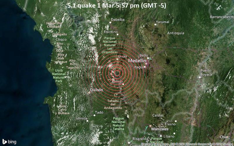 5.1 quake 1 Mar 5:57 pm (GMT -5)