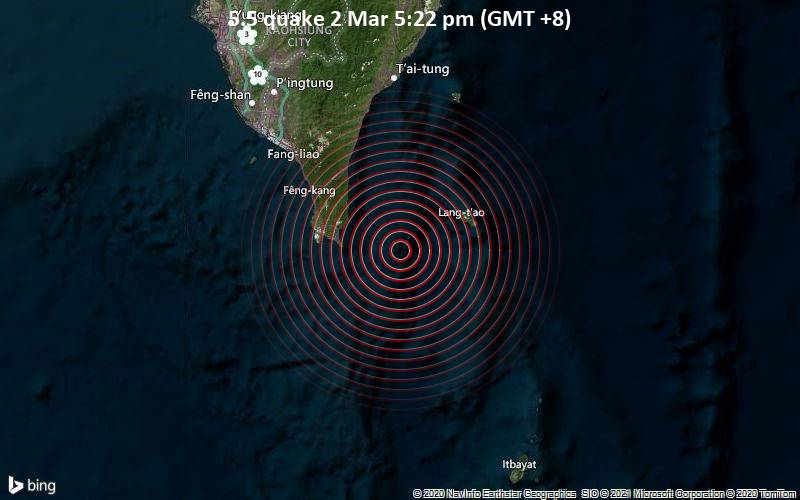 5.5 quake 2 Mar 5:22 pm (GMT +8)