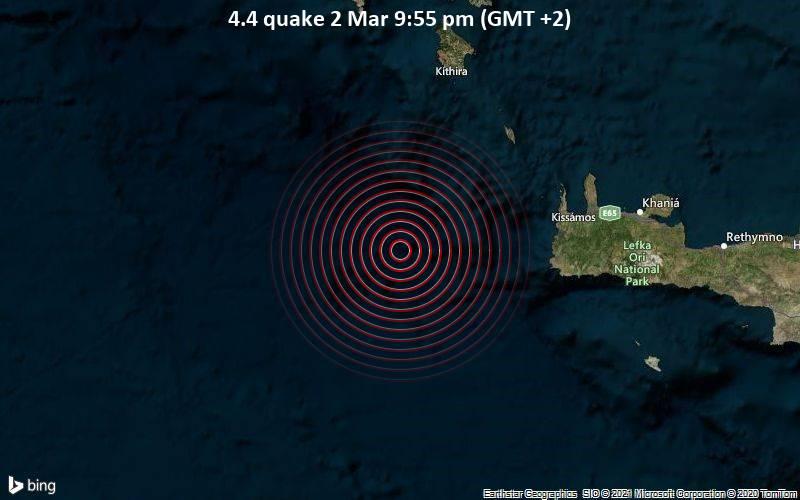 4.4 quake 2 Mar 9:55 pm (GMT +2)