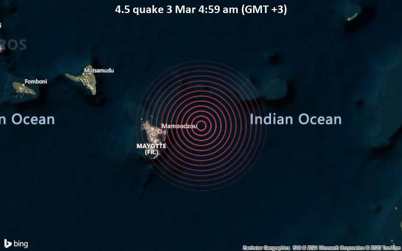 4.5 quake 3 Mar 4:59 am (GMT +3)